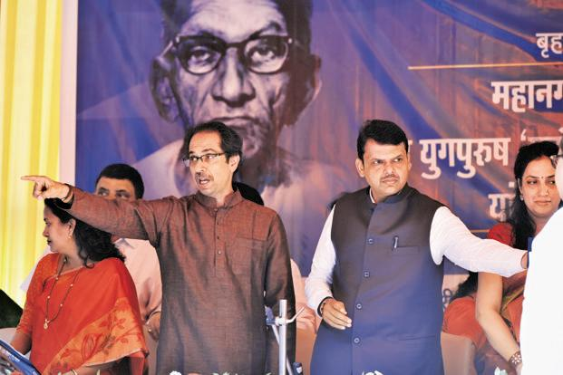 The BJP is also relieved that Shiv Sena legislators did not join the protest, after chief minister Devendra Fadnavis persuaded Shiv Sena chief Uddhav Thackeray not to join the opposition. Photo: HT