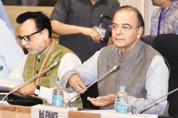 Various service industries and government departments made specific presentations to the GST council, headed by finance minister Arun Jaitley, for single registration. Photo: PTI