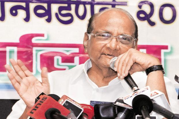 NCP leader Sharad Pawar says a Grand Alliance of all like-minded parties should be formed to check the growth of the BJP. Photo: Reuters