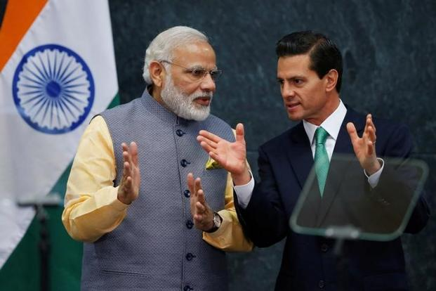 A file photo of Prime Minister Narendra Modi and Mexican President Enrique Peña Nieto. Photo: Reuters