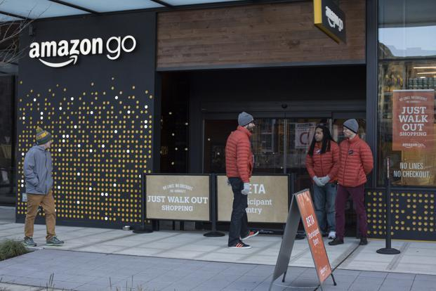 Amazon sees brick-and-mortar stores playing a key role in a renewed grocery push. Photo: Bloomberg