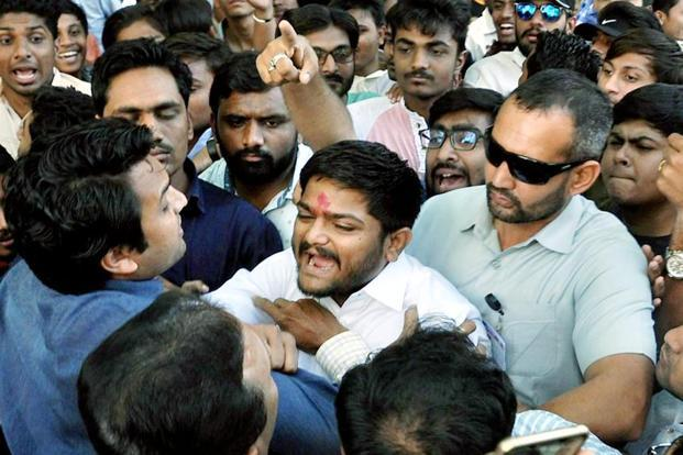 Patidar Anamat Andolan Samiti convener Hardik Pate, who already faces two sedition cases, is currently out on bail. Photo: PTI