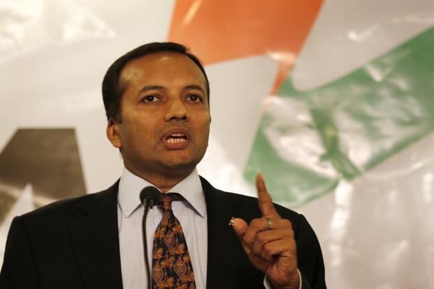 Naveen Jindal, chairperson of Jindal Steel and Power Ltd. JSPL's consolidated gross debt stood at Rs45,175.66 crore as of 30 September against Rs46,816 crore at the end of March 2016. Photo: HT