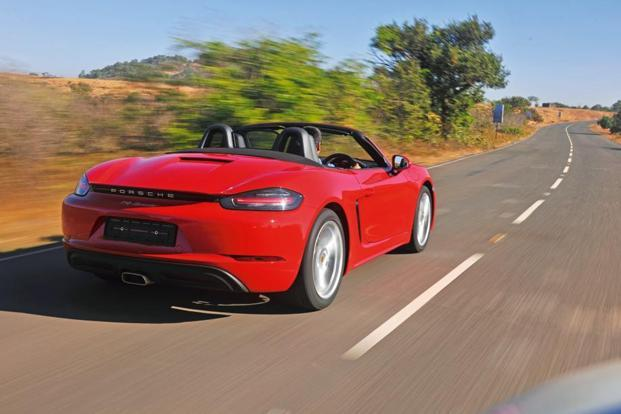 At Rs85.53 lakh (ex-showroom, Delhi) then, the 718 Boxster is a good Rs20 lakh cheaper than the old Boxster S.