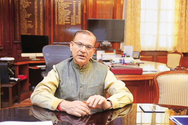 A file photo of minister of state for civil aviation Jayant Sinha. Photo: Ramesh Pathania/Mint