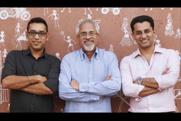 DDB Mudra Group CEO and managing director Madhukar Kamath (centre) is flanked by chief digital officer Vineet Gupta (left) and chief strategy officer Aditya Kanthy.