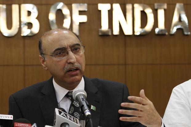 Abdul  Basit's  valedictory performance, at an event in Mumbai last weekend, had the usual admixture of mendacity and mealy-mouthedness. Photo: Arvind Yadav/ Hindustan Times