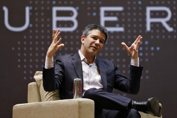 Uber CEO Travis Kalanick was conspicuously absent from Tuesday's call, though he is in the eye of the storm thrashing the company. Photo: Reuters