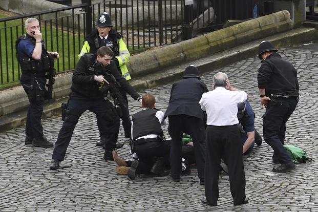 Image result for Five dead after terror attack outside U.K. Parliament