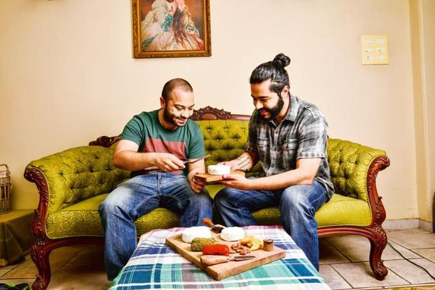 Agnay Mehra (left) and Prateeksh Mehra of The Spotted Cow Fromangerie at their home in Mumbai. Photo: Aniruddha Chowdhury/Mint