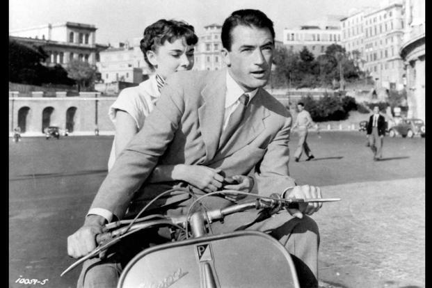 The oldest scooter was featured in the 1953 Audrey Hepburn blockbuster movie Roman Holiday.