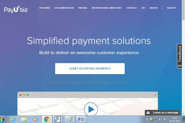 PayU at present provides financial technology to merchants for facilitating online payments.