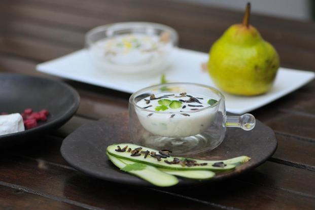 Pear and Masala Amla Raita. Photographs by Priyanka Parashar/Mint