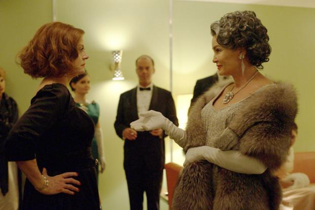 Susan Sarandon (left) and Jessica Lange in a still from 'Feud'.