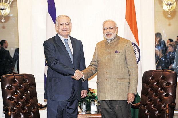 Israel PM Benjamin Netanyahu and Narendra Modi. If the Indian prime minister does hear from Arab rulers before his Israel visit, it may very well be in the form of requests to convey cautious felicitations.