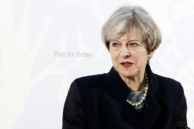 UK Prime Minister Theresa May will start the Brexit process on Wednesday. Photo: Reuters
