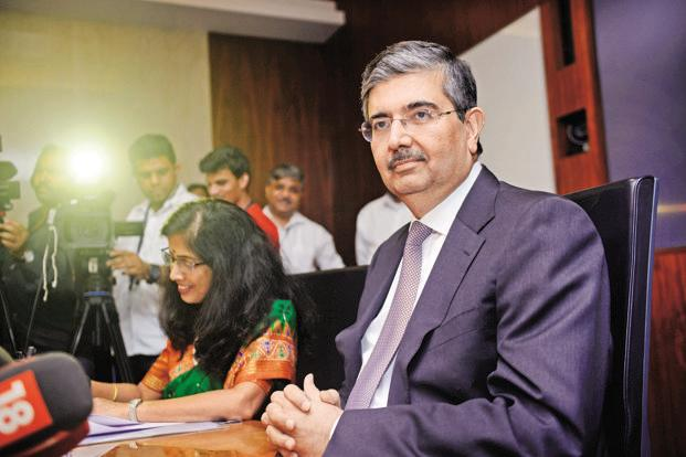 Uday Kotak, vice chairman and managing director at Kotak Mahindra Bank at the launch at the launch of the bank's new paperless zero-balance savings account, in Mumbai on Wednesday. Photo: Abhijit Bhatlekar/Mint