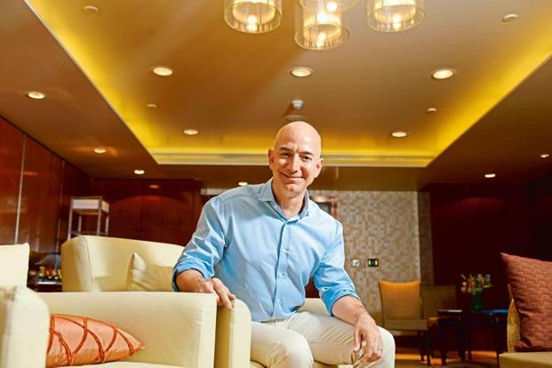 Jeff Bezos remains $10.4 billion behind Microsoft co-founder Bill Gates, the world's richest person with $86 billion. Photo: Hemant Mishra/Mint.
