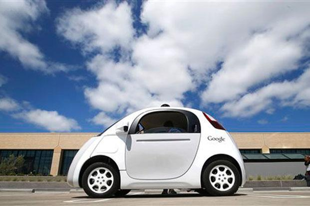A file photo of a Google self-driving car. Photo: AP