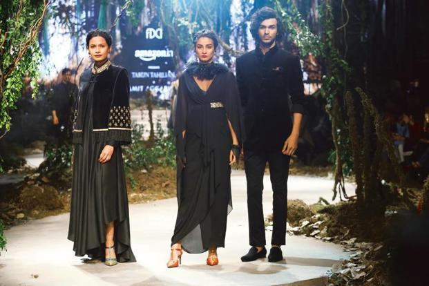Looks from Tarun Tahiliani's Autumn Winter 2017 finale show at AIFW last month