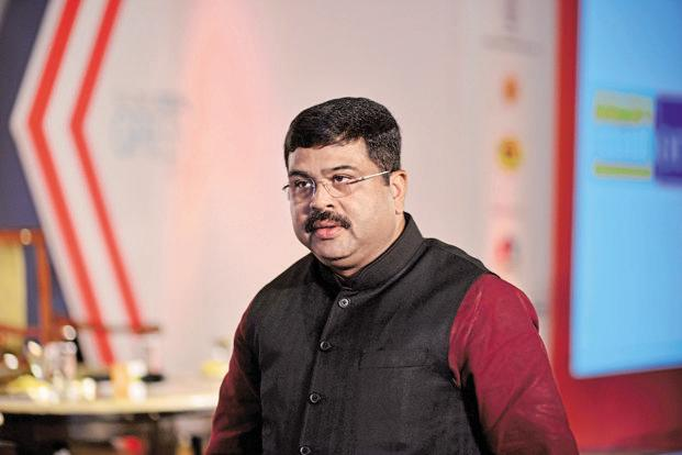 File photo. Union petroleum minister Dharmendra Pradhan formally launched the BS-IV grade transportation fuel in Bhubaneswar. Photo: Pradeep Gaur/Mint