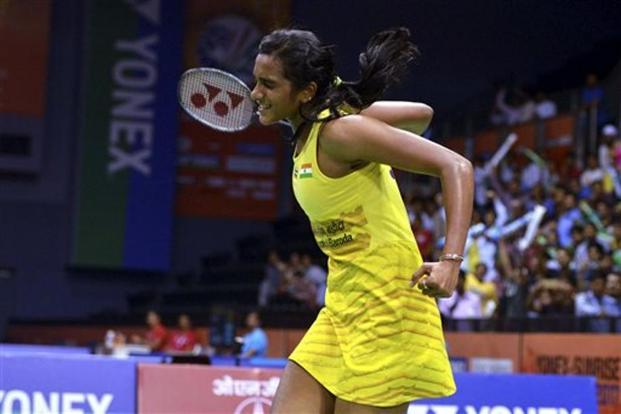 The win also narrowed down PV Sindhu's head-to-head record against the Spaniard to 4-5. Photo: PTI