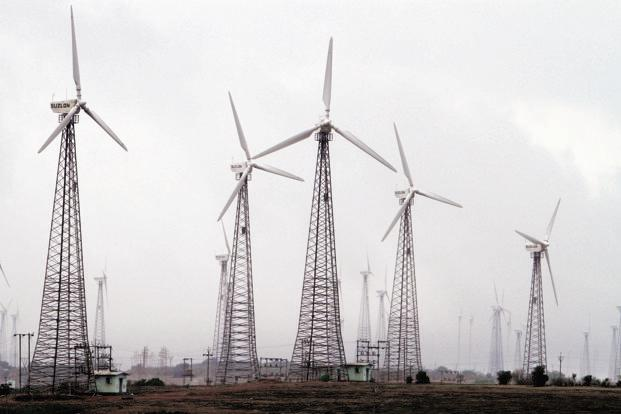 During 2016-17, leading states in wind power capacity addition were Andhra Pradesh, Gujarat and Karnataka. Photo: Bloomberg
