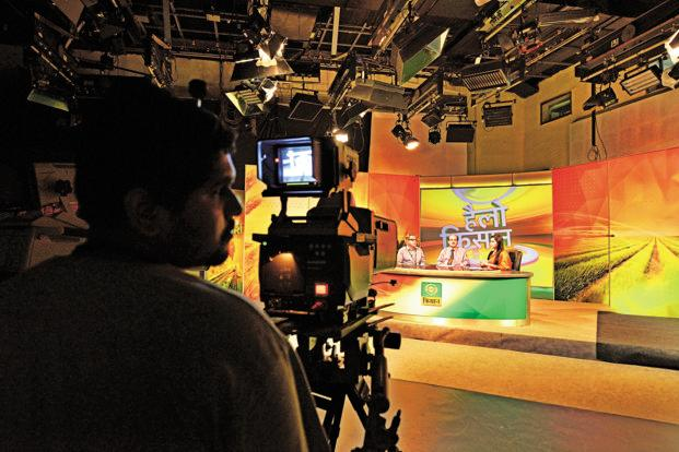 Doordarshan, which operates 23 channels across the country, recorded the highest ever revenue from its free-to-air DTH platform DD Free Dish in 2016-17. Photo: Pradeep Gaur/Mint