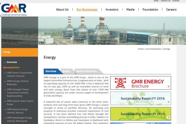GMR Energy has power capacity of over 4,600MW across coal, gas and renewable energy-based projects.