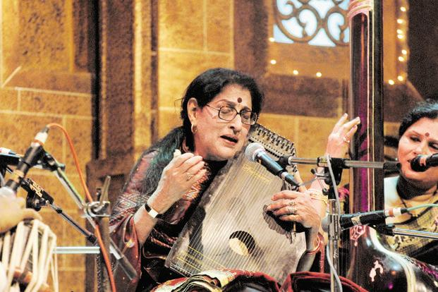 Kishori Amonkar received many awards, including the Padma Bhushan (1987) and Padma Vibhushan (2002), two of India's top civilian honours. Photo: Kalpak Pathak/HT