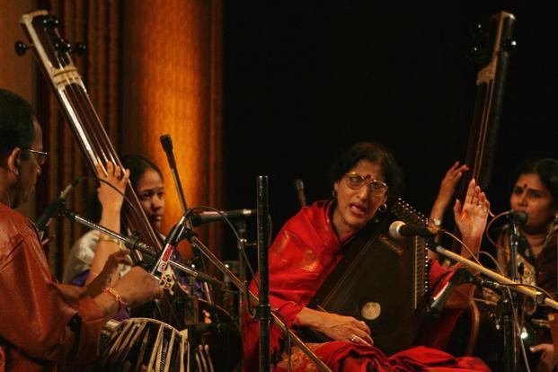A file photo of Hindustani vocalist Kishori Amonkar. Photo: Hindustan Times