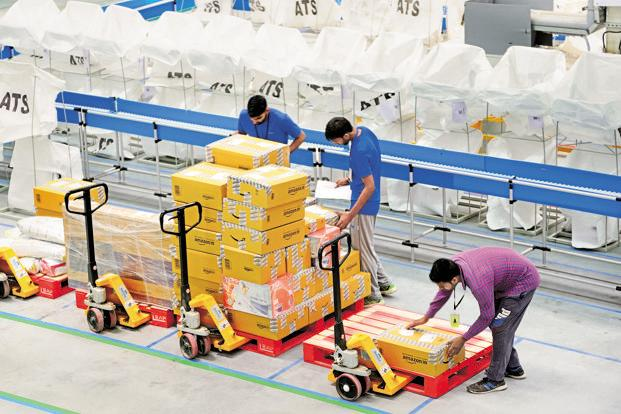 Apart from the new warehouses, Amazon is also expanding its after-sales service network for large appliances. Photo: Ramesh Pathania/Mint