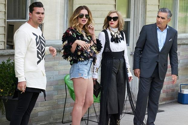 There is one reason to watch 'Schitt's Creek', and her name is Catherine O'Hara (2nd right).