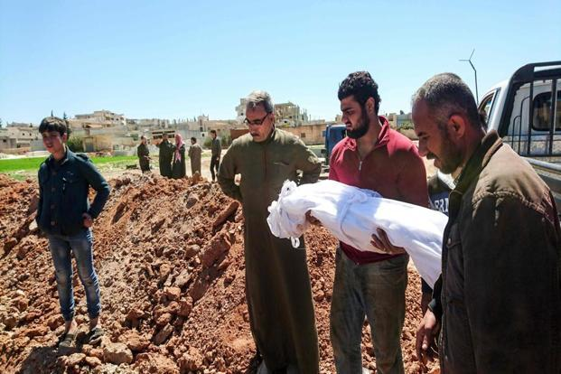 Syria chemical attack death toll now at 72; new strikes hit