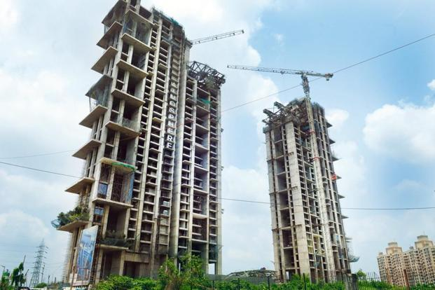 The shares of DLF surged 4.48%, Unitech by 3.25% and Prestige Estates by 1.92% on BSE. Photo: Mint