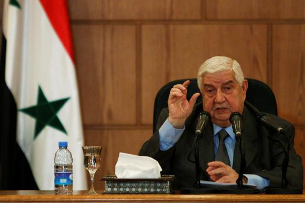 Syrian foreign minister Walid Muallem said Al-Nusra Front and ISIS continue to store chemical weapons in urban and residential areas. Photo: Reuters