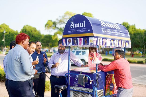 Gujarat Cooperative Milk Marketing Federation had argued that its Amul ice-cream ads did not hurt Kwality Walls because they did not refer to it by name, rather depicted a generic cup labelled 'frozen dessert'. Photo: Pradeep Gaur/Mint