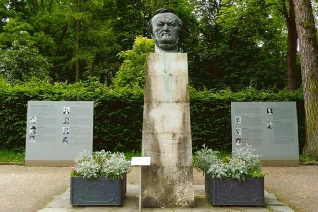 Wagner's bust by Arno Breker in the grounds of Festpielpark in Bayreuth. Photo: Lindsay Pereira