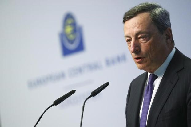 ECB boss Mario Draghi. The eurozone faces challenges from elections in France and Germany, while weak global growth has sapped overseas demand for the region's products. Photo: AFP