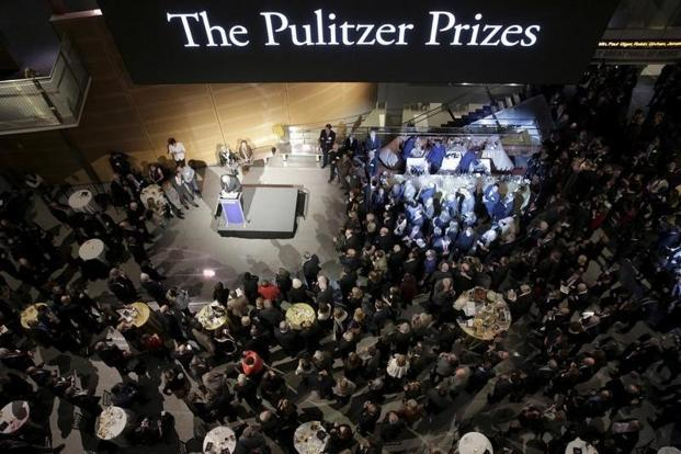 Columbia University's Graduate School of Journalism announced the 101st annual Pulitzer Prizes Monday in New York. Photo: Reuters