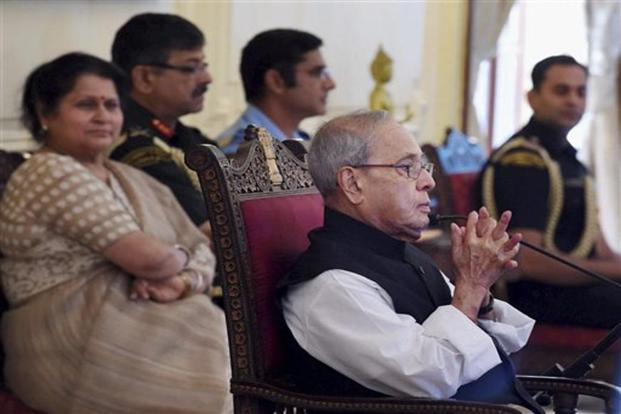President Pranab Mukherjee said the Indian economy will be among the top five in terms of absolute value and several glorious chapters will be added to the country's PSUs in the future. Photo: PTI