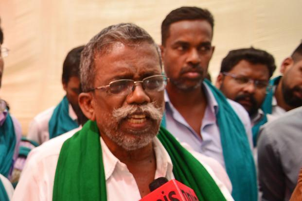 P. Ayyakannu has been leading the recent protest by Tamil Nadu farmers for a loan waiver. Photo: Ramesh Pathania/Mint