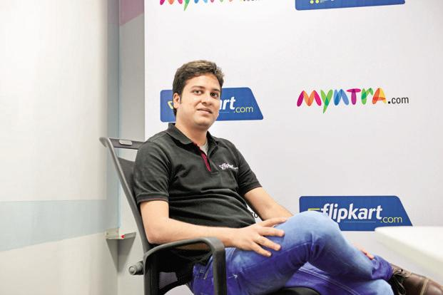 Flipkart group CEO Binny Bansal says private labels is an area where the e-commerce firm is looking to invest in a big way as margins are higher in that domain. Photo: Hemant Mishra/Mint