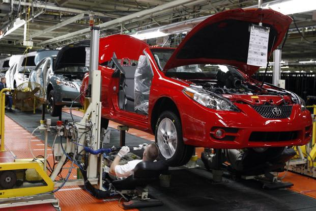 Totota's Kentucky plant in the US. Toyota joins a host of automakers including Fiat Chrystler, Honda and Daimler that have announced investments in the US since Donald Trump won the US election. Photo: AP