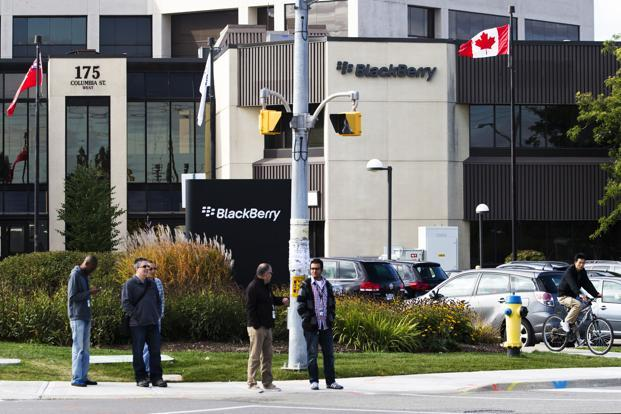 BlackBerry says a final award including interest and reasonable legal fees will be issued after a hearing on 30 May. Photo: Reuters