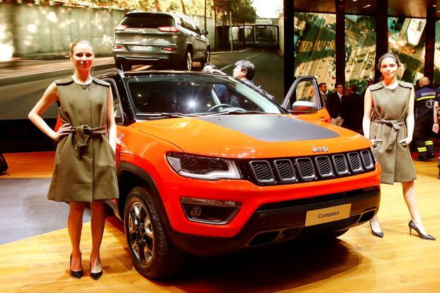The Jeep Compass SUV is expected to be launched by August in a space dominated by SUVs Hyundai Creta and Mahindra XUV 5OO. Photo: Reuters