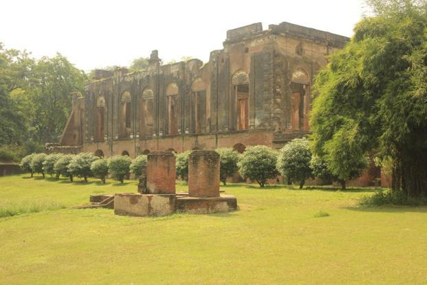 The ruins of an 18th century residence of the erstwhile British resident. Photo: Ganesh Vancheeswaran