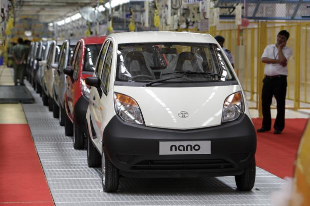 In the year ended 31 March, Tata Nano sales fell 64% to 7,591 units. Photo: Bloomberg