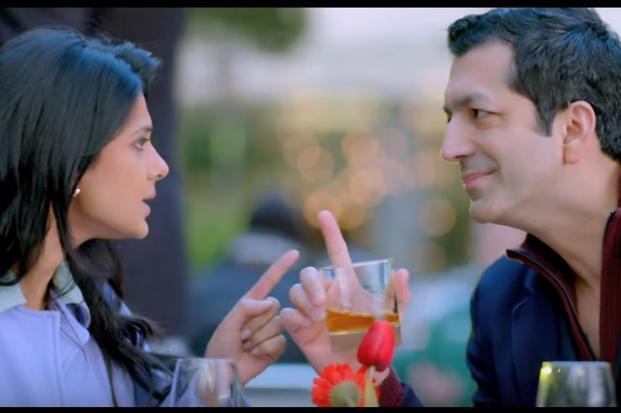 A still from director Kunal Kohli's 'Phir Se' featuring him and television star Jennifer Winget (right).