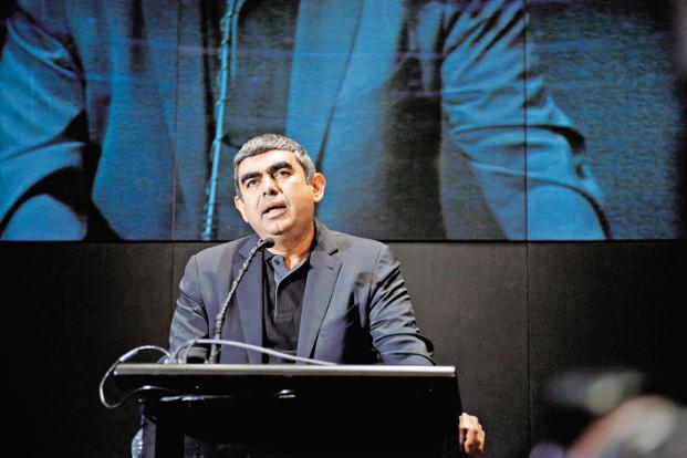 "Vishal Sikka said the industry will have to focus on delivering value to clients in a way that is strategic to them and is ""in compliance with regulations"". Photo: Aniruddha Chowdhury/Mint"